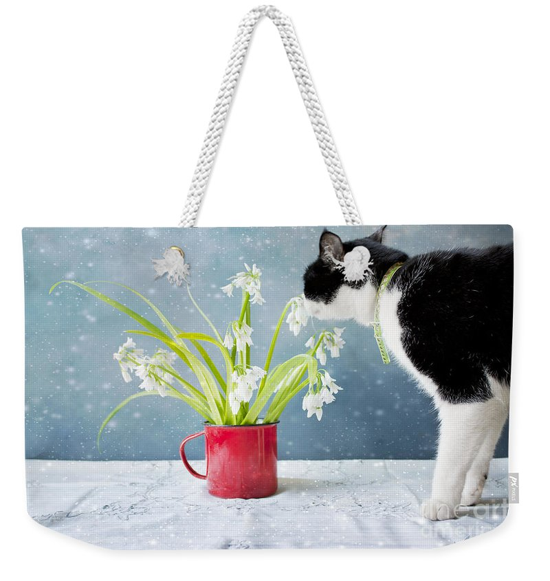 Flowers Weekender Tote Bag featuring the photograph Taking Time To Smell The Flowers by Linda Lees