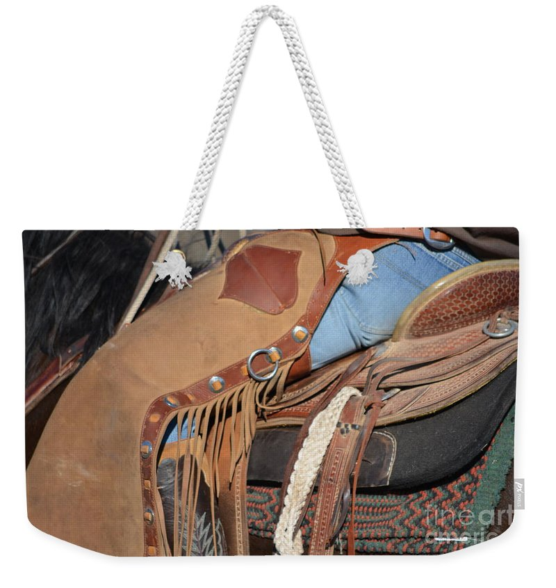 Drover Weekender Tote Bag featuring the photograph Tall In The Saddle II by Gale Cochran-Smith