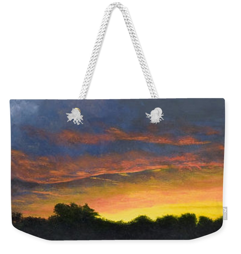 Florida Weekender Tote Bag featuring the painting Tamarac Sunset by Garry McMichael