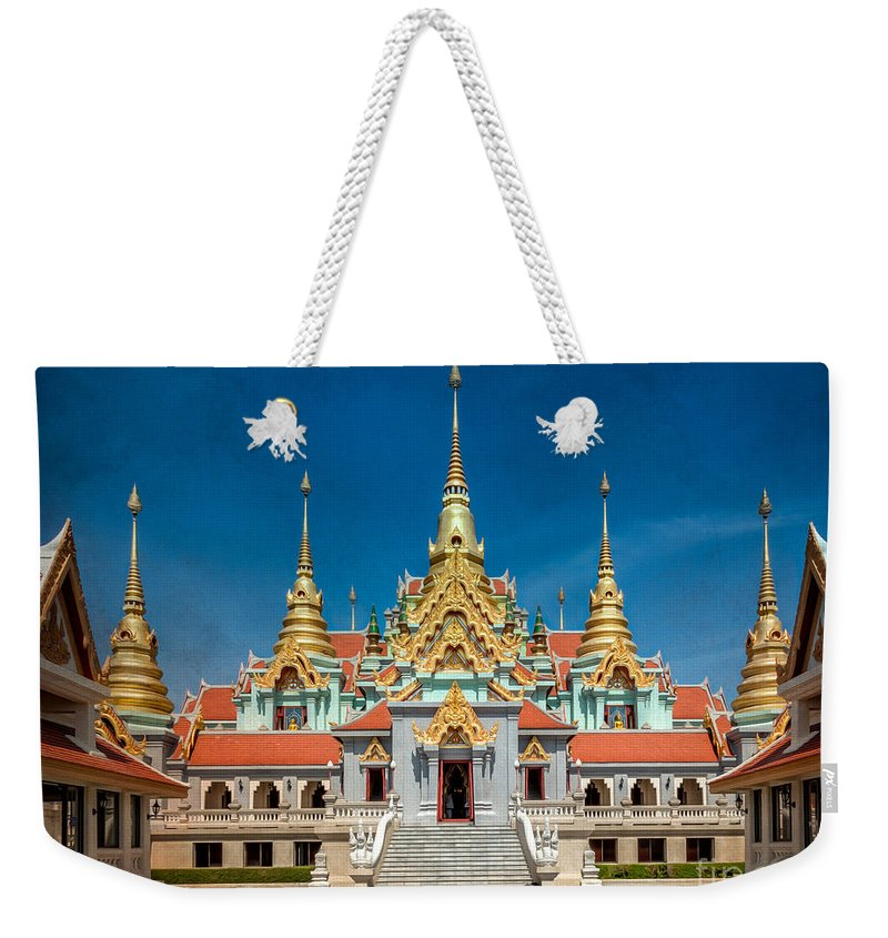 Ban Krut Weekender Tote Bag featuring the photograph Tang Sai Temple by Adrian Evans
