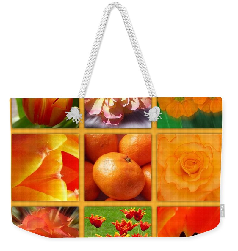 Orange Blossoms Weekender Tote Bag featuring the photograph Tangerine Dream Window by Joan-Violet Stretch