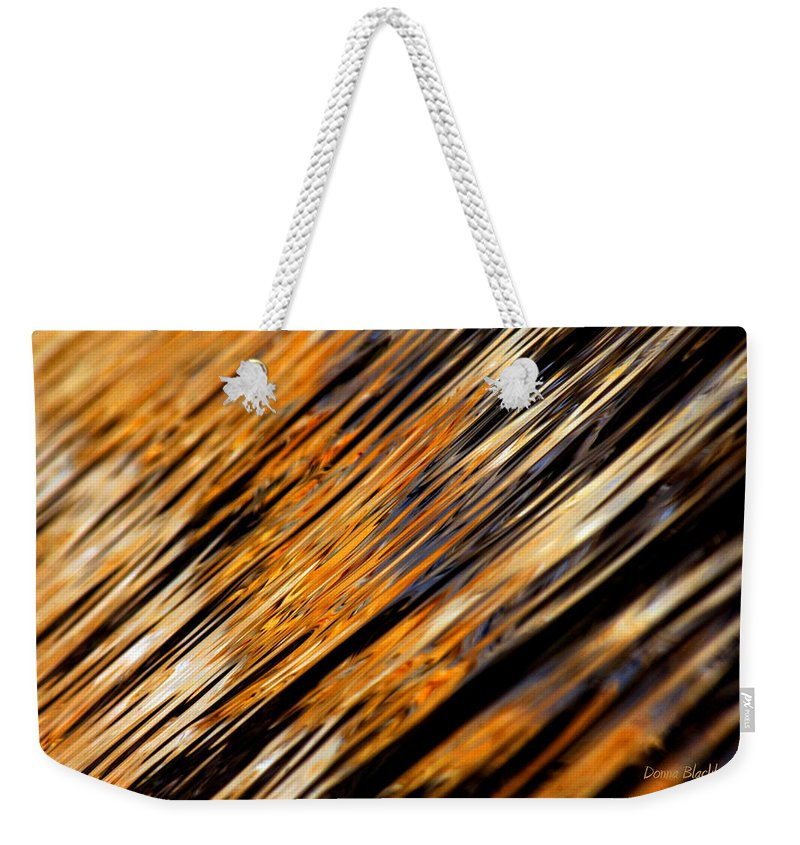 Water Weekender Tote Bag featuring the photograph Tangerine Sunset by Donna Blackhall