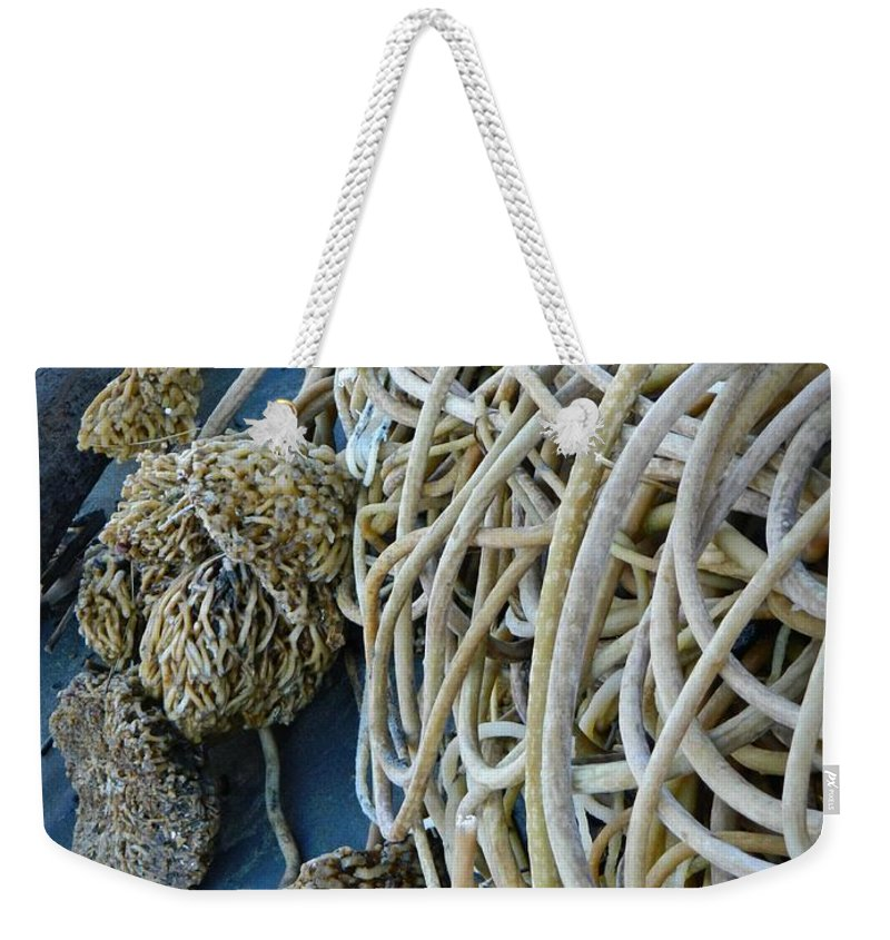 Tangles Of Seaweed Weekender Tote Bag featuring the photograph Tangles Of Seaweed by Chalet Roome-Rigdon