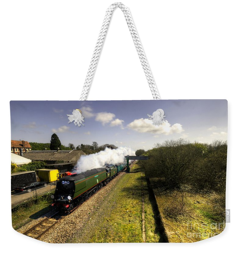 Tangmere Weekender Tote Bag featuring the photograph Tangmere At Seaton Junction by Rob Hawkins