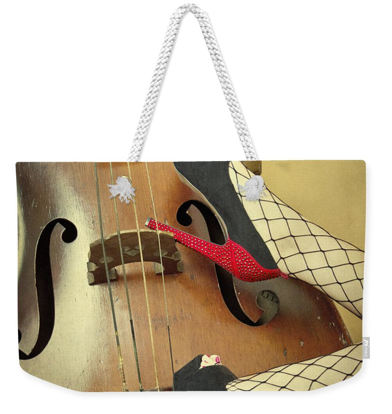Antique Weekender Tote Bag featuring the photograph Tango For Strings by Evelina Kremsdorf