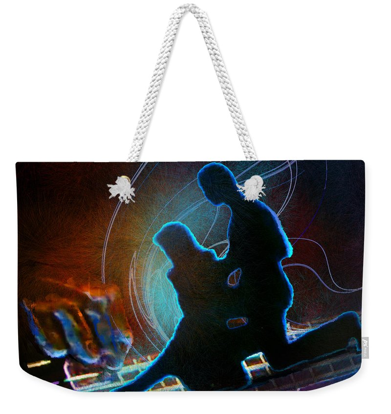 Tango Weekender Tote Bag featuring the painting Tangoscape 04 by Miki De Goodaboom