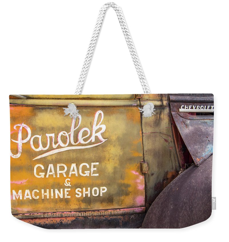 Made In America Weekender Tote Bag featuring the photograph Taos Chevy by Steven Bateson