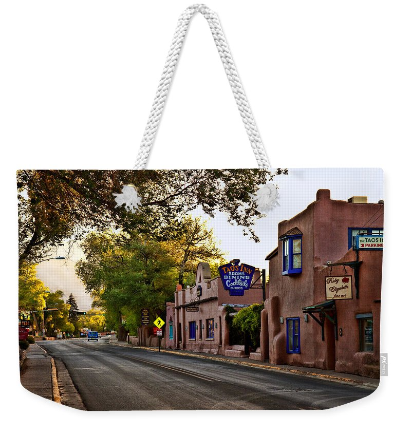 Taos Weekender Tote Bag featuring the photograph Taos Morning by Diana Powell