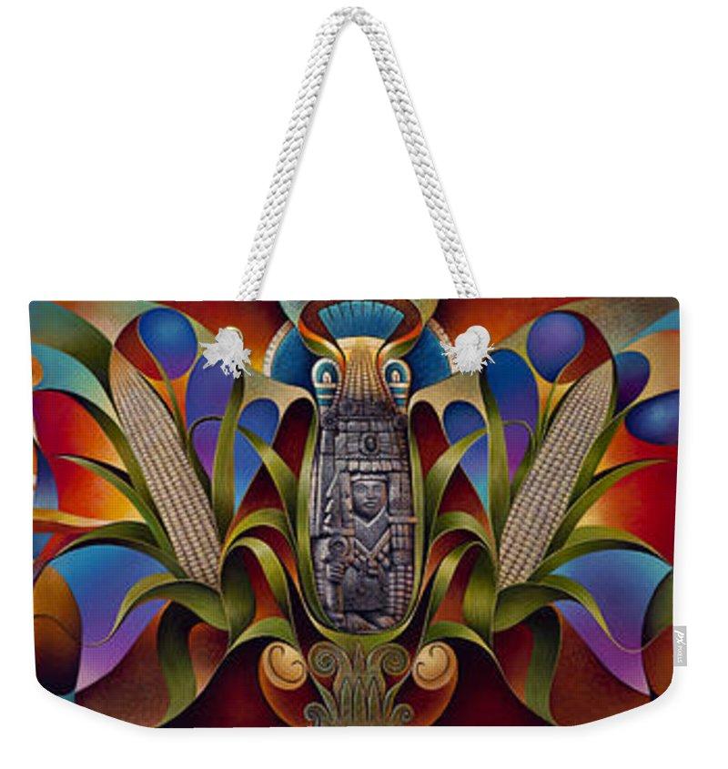 Aztec Sun Weekender Tote Bags