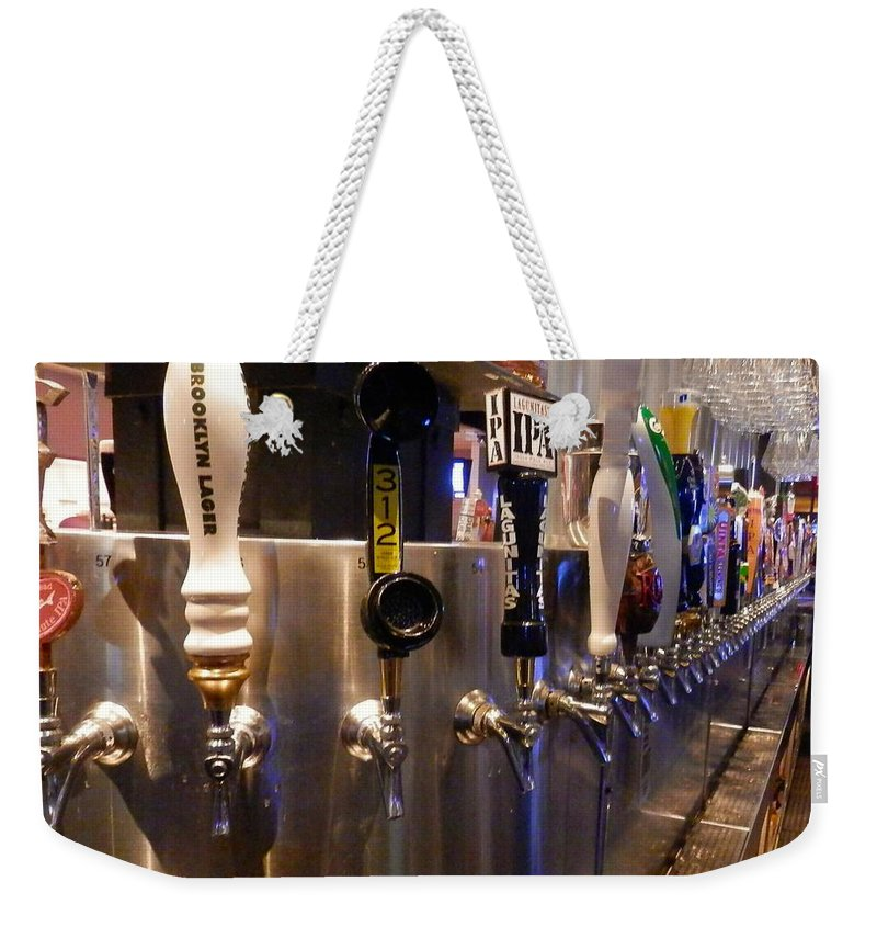 Beer Weekender Tote Bag featuring the photograph Tapped Out by Joe Wyman