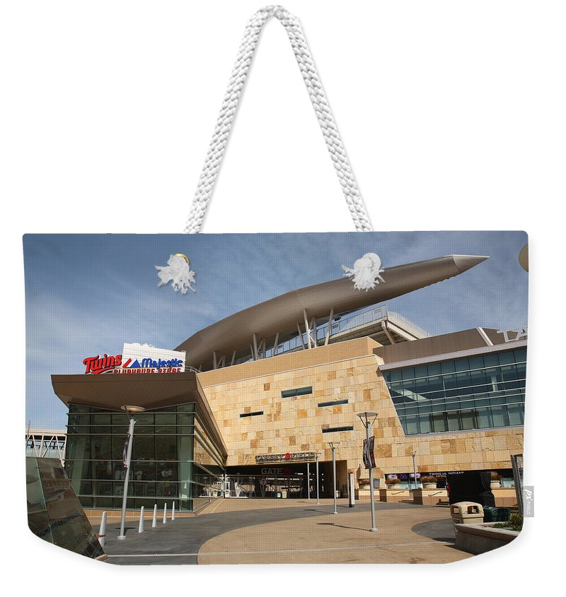 America Weekender Tote Bag featuring the photograph Target Field - Minnesota Twins by Frank Romeo