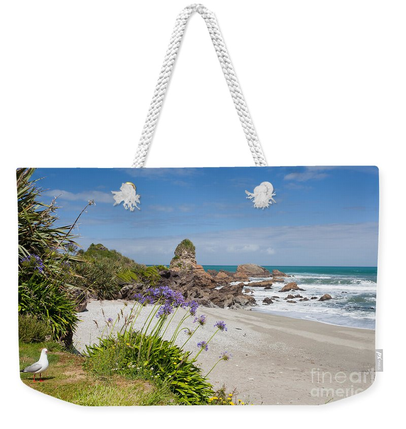 South Island Weekender Tote Bag featuring the photograph Tasman Sea At West Coast Of South Island Of Nz by Stephan Pietzko