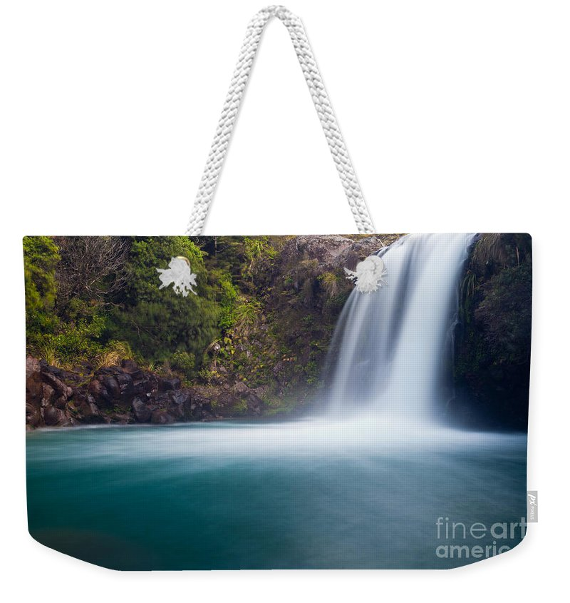 Mount Weekender Tote Bag featuring the photograph Tawhai Falls In Tongariro Np New Zealand by Stephan Pietzko