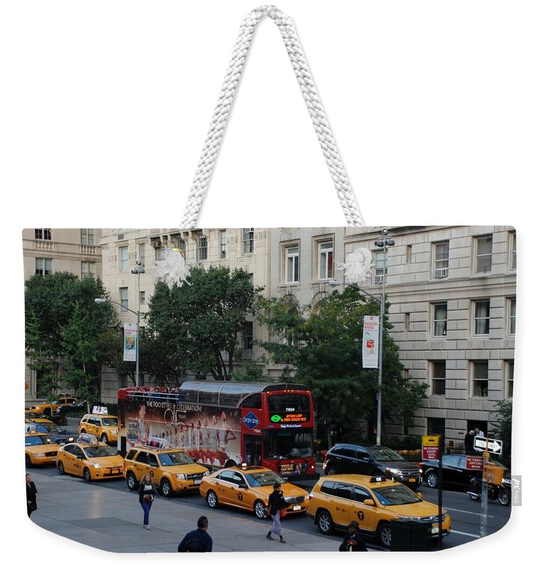Scenic Weekender Tote Bag featuring the photograph Taxi Stand by Rob Hans