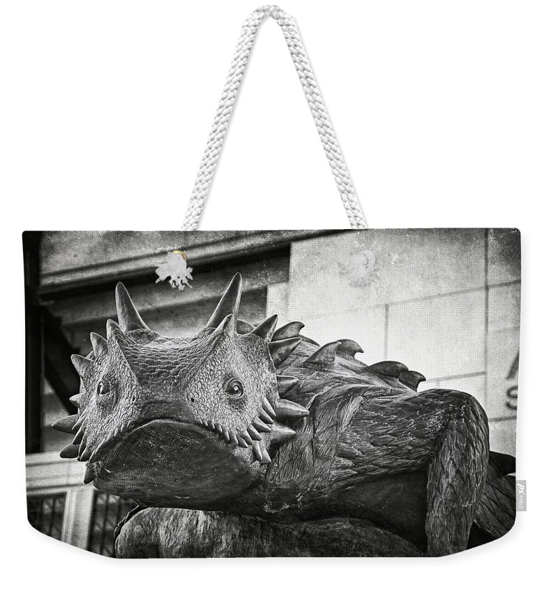 Joan Carroll Weekender Tote Bag featuring the photograph Tcu Horned Frog 2014 by Joan Carroll