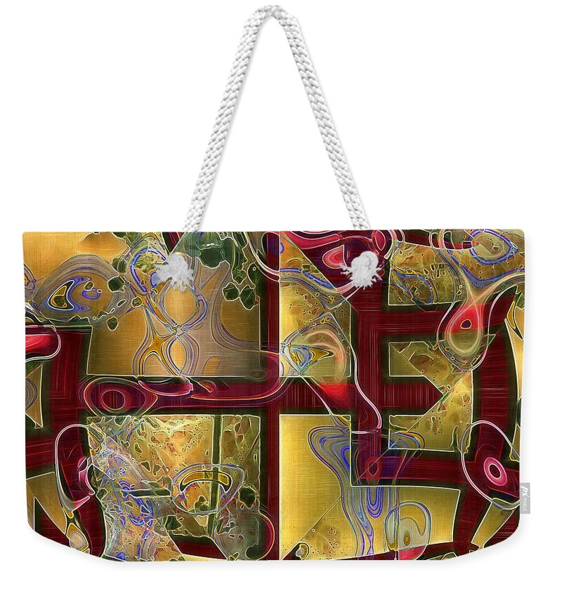 Abstract Weekender Tote Bag featuring the painting Tea Ceremony by RC DeWinter