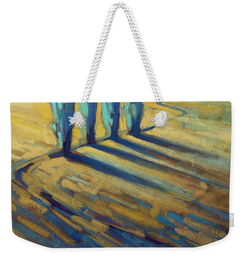 California Weekender Tote Bag featuring the painting Teal by Konnie Kim