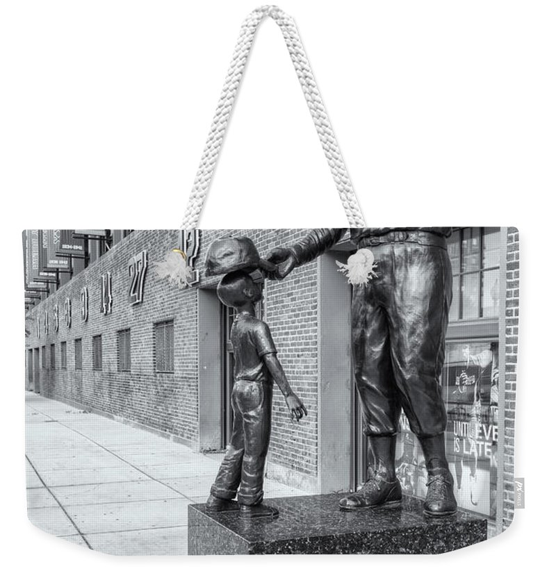 Clarence Holmes Weekender Tote Bag featuring the photograph Teddy Ballgame II by Clarence Holmes