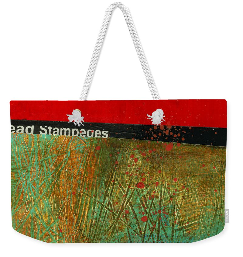 4x4 Weekender Tote Bag featuring the painting Teeny Tiny Art 123 by Jane Davies