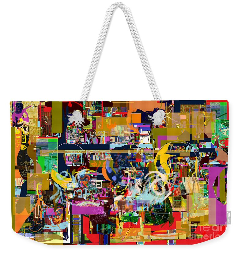 Weekender Tote Bag featuring the digital art Tefilla Without Cavona 2c by David Baruch Wolk