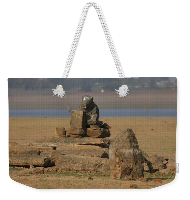 Temple Ruins Weekender Tote Bag featuring the photograph Temple Ruins by Ramabhadran Thirupattur