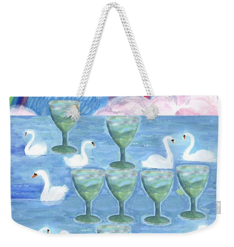 Tarot Weekender Tote Bag featuring the painting Ten Of Cups by Sushila Burgess