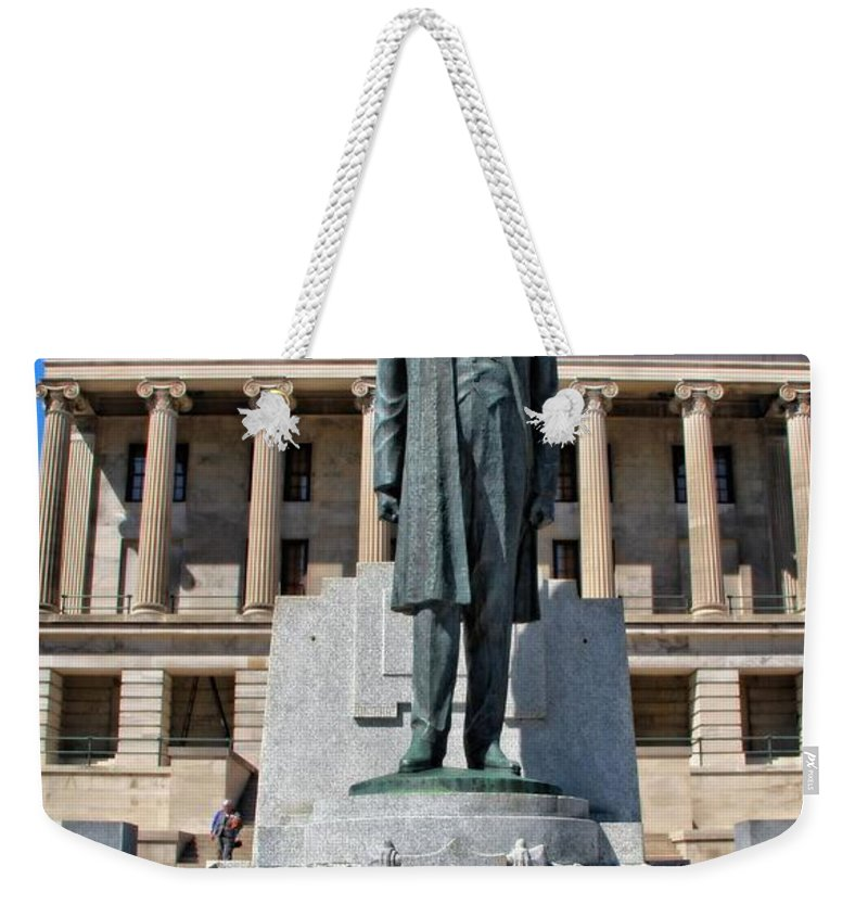 Nashville Tennessee Weekender Tote Bag featuring the photograph Tennessee Capitol by Dan Sproul