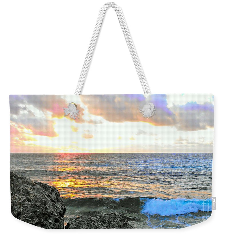 Seascape Weekender Tote Bag featuring the photograph Tequila Dawn by Paul Smith