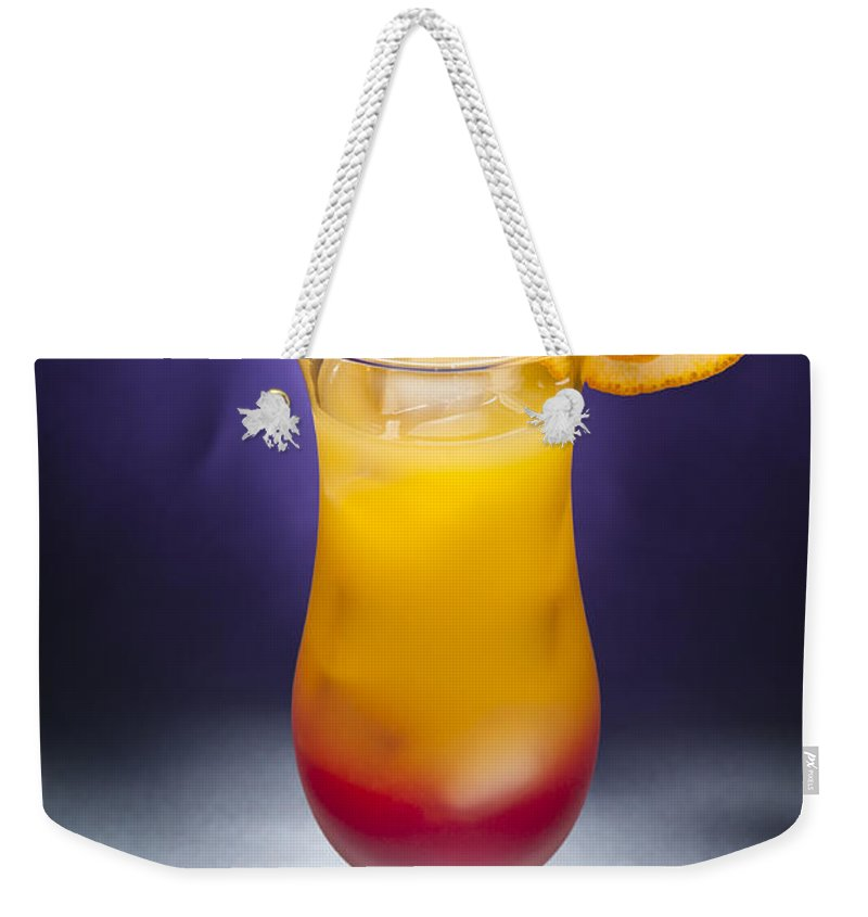 Grenadine Weekender Tote Bag featuring the photograph Tequila Sunrise Cocktail by U Schade