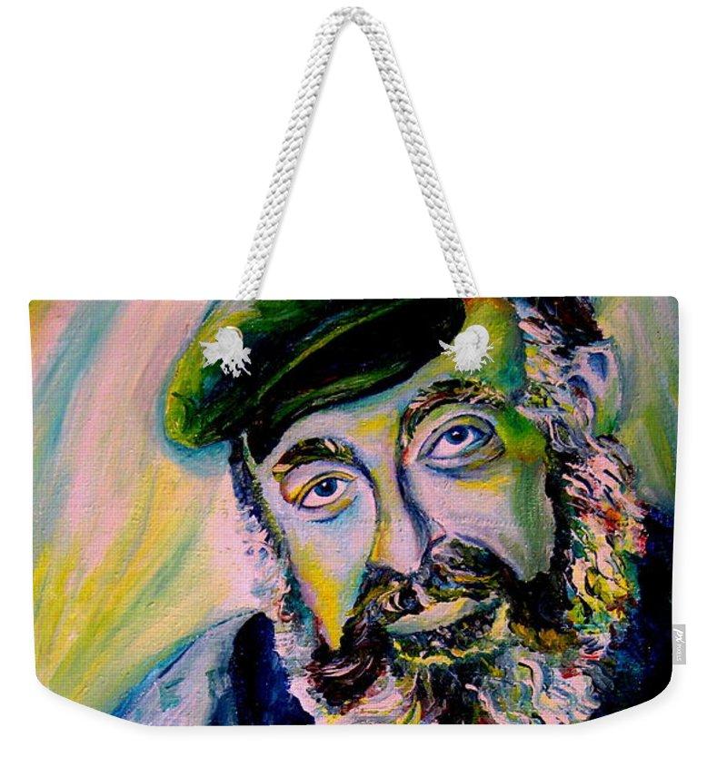 Tevye Fiddler On The Roof Weekender Tote Bag featuring the painting Tevye Fiddler On The Roof by Carole Spandau