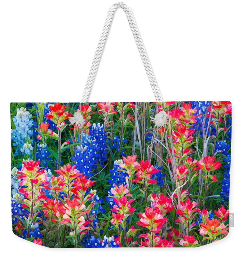 America Weekender Tote Bag featuring the photograph Texan Quilt by Inge Johnsson