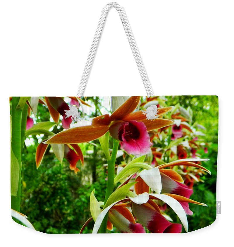 Orchids Weekender Tote Bag featuring the photograph Texas Orchids by Shere Crossman