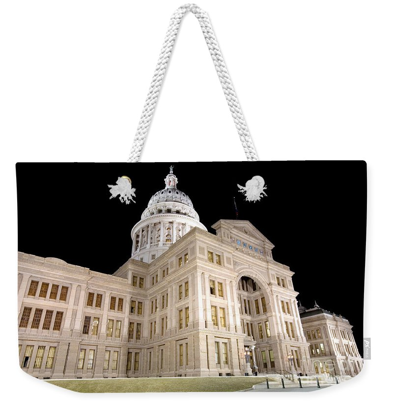 Capitol Building Weekender Tote Bag featuring the photograph Texas State Capitol by Bill Cobb