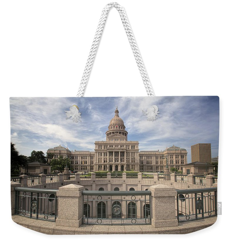 Joan Carroll Weekender Tote Bag featuring the photograph Texas State Capitol Iv by Joan Carroll