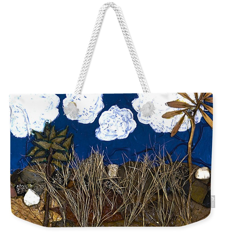 Landscape Weekender Tote Bag featuring the mixed media Texture From The Series The Elements And Principles Of Art by Verana Stark