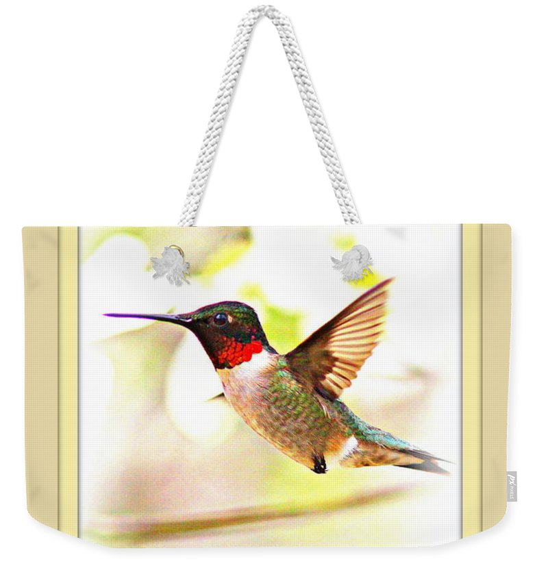 Hummingbird Weekender Tote Bag featuring the photograph Thank You Card - Bird - Hummingbird by Travis Truelove