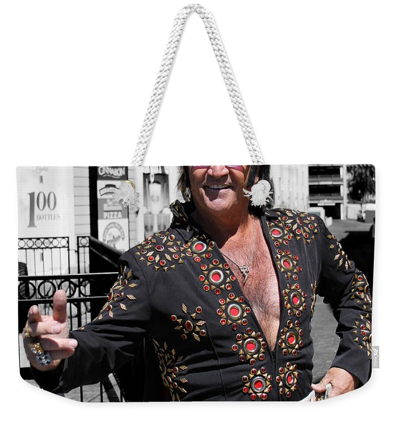 Elvis Weekender Tote Bag featuring the photograph Thankyouverymuch Las Vegas by William Dey