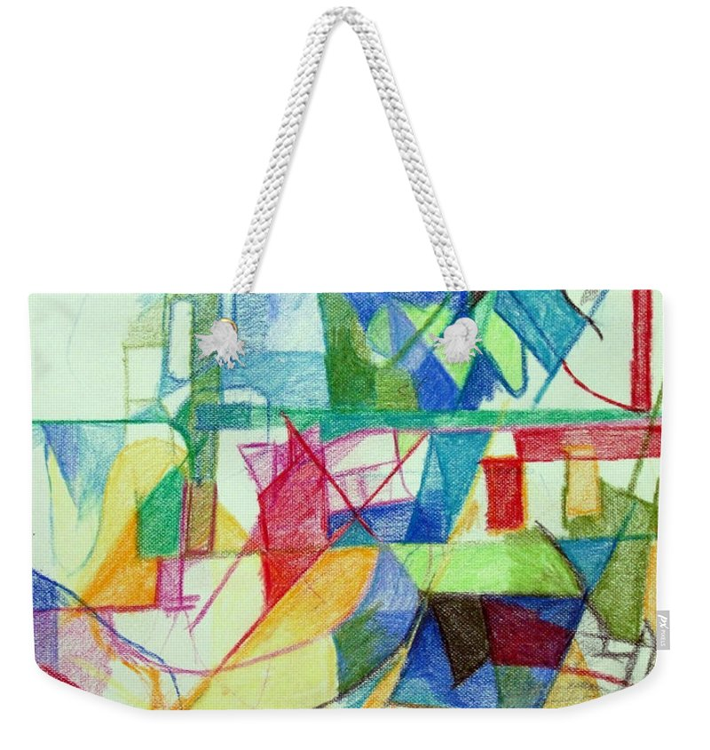 Torah Weekender Tote Bag featuring the drawing That Hashem And His Ways Become Known In The World 2 by David Baruch Wolk