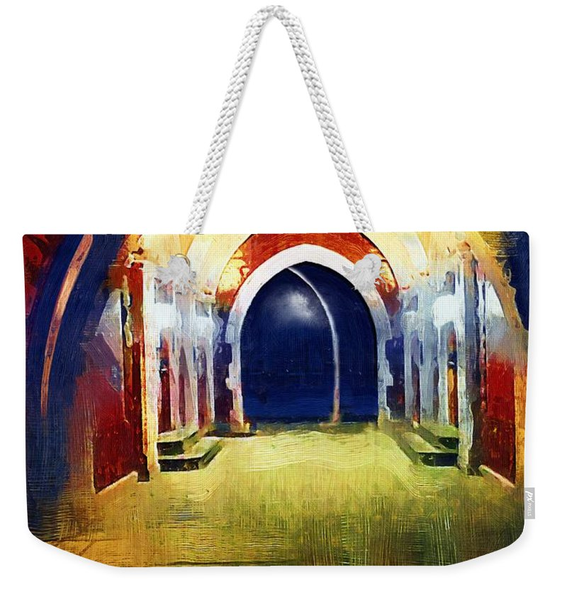 Tunnel Weekender Tote Bag featuring the painting That Long Walk Home by RC DeWinter