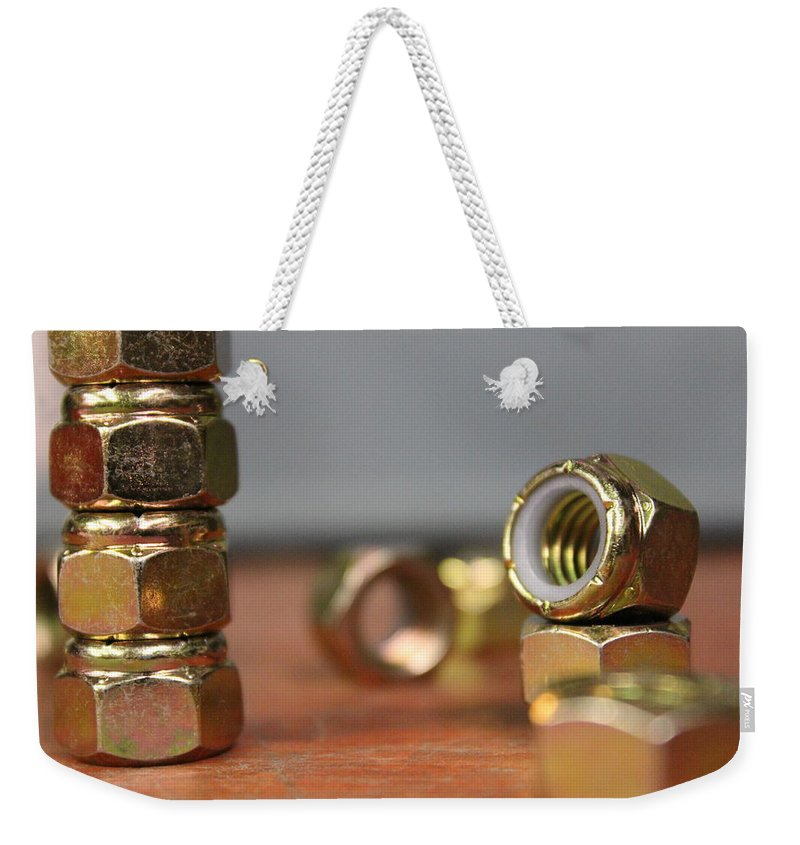 Nuts Weekender Tote Bag featuring the photograph That's A Lot Of Nuts by Tiffany Erdman