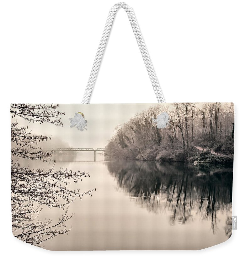 River Weekender Tote Bag featuring the photograph The Absence by Alfio Finocchiaro