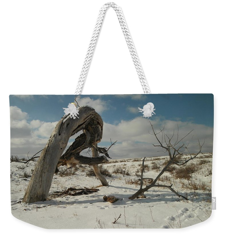 Trees Weekender Tote Bag featuring the photograph The Agony Of Living Or Dying by Jeff Swan