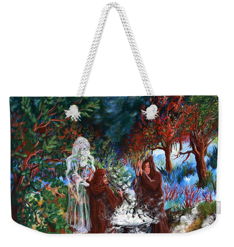 Spiritual Weekender Tote Bag featuring the painting The Alchemists by Joyce Jackson