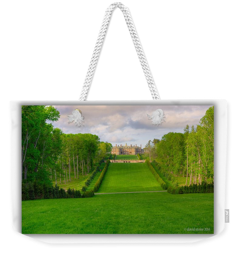 Castle Hill Weekender Tote Bag featuring the photograph The Allee And The Castle by David Stone