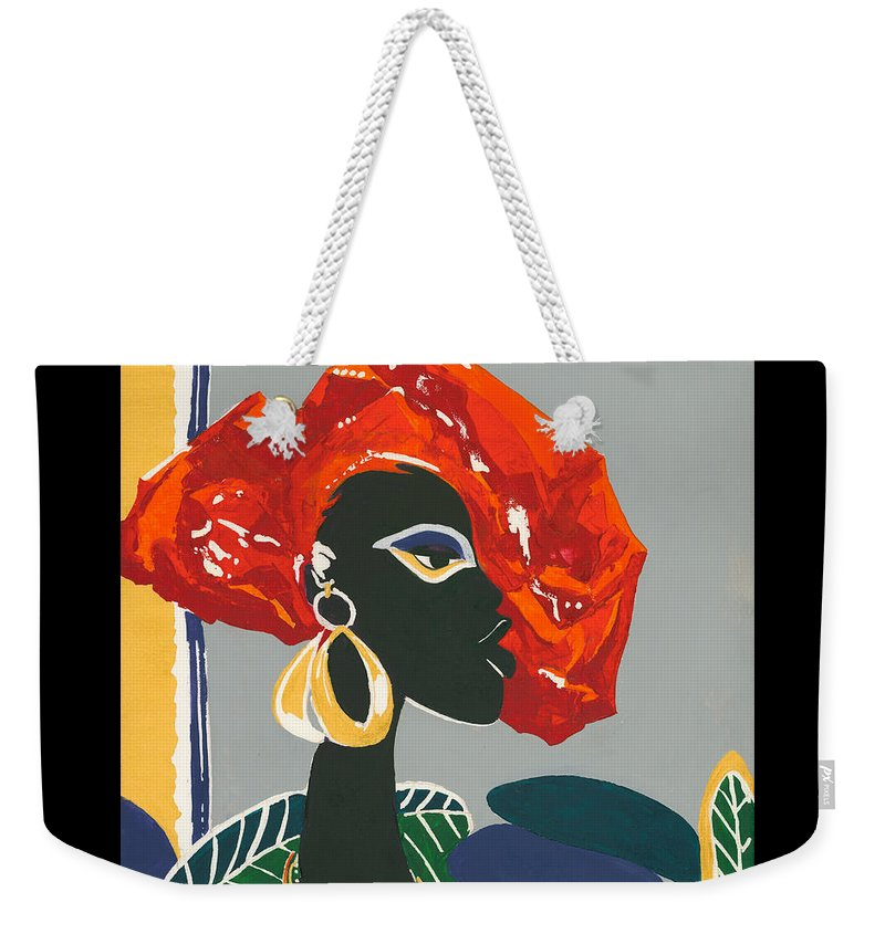 Black Weekender Tote Bag featuring the painting The Ambassador by Elisabeta Hermann