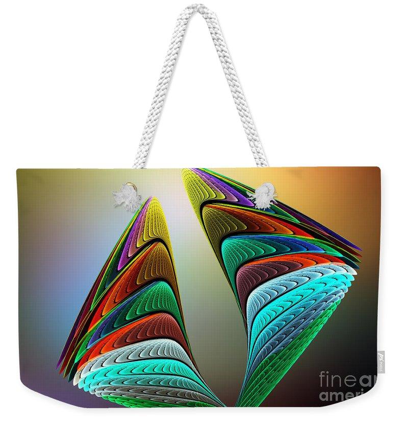 Angel Weekender Tote Bag featuring the digital art The Angel Went To Sleep by Klara Acel