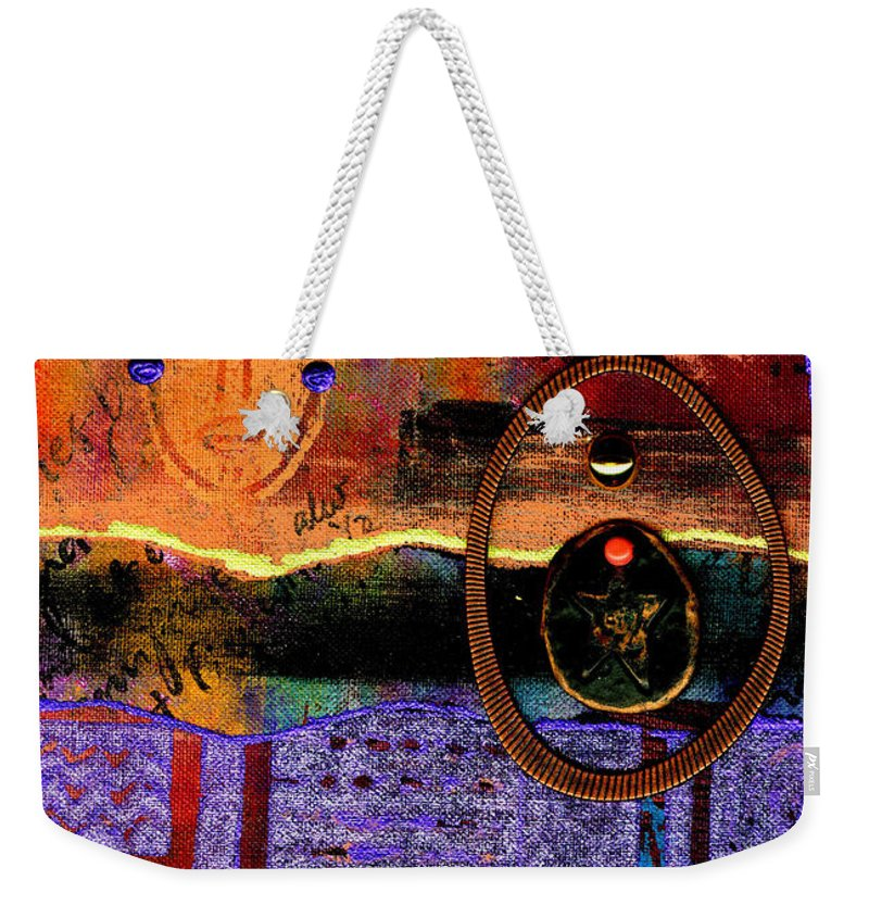 Journal Art Weekender Tote Bag featuring the mixed media The Angels And The Star by Angela L Walker