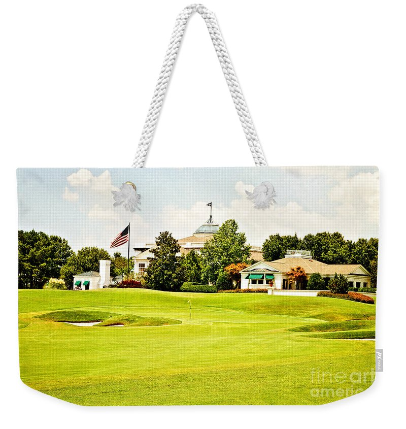 Golf Weekender Tote Bag featuring the photograph The Approach by Scott Pellegrin