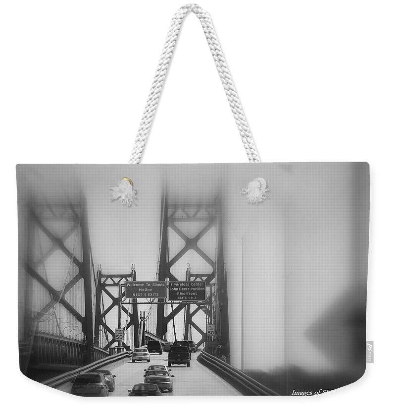 Bridge Weekender Tote Bag featuring the photograph The Approach by Scott Polley