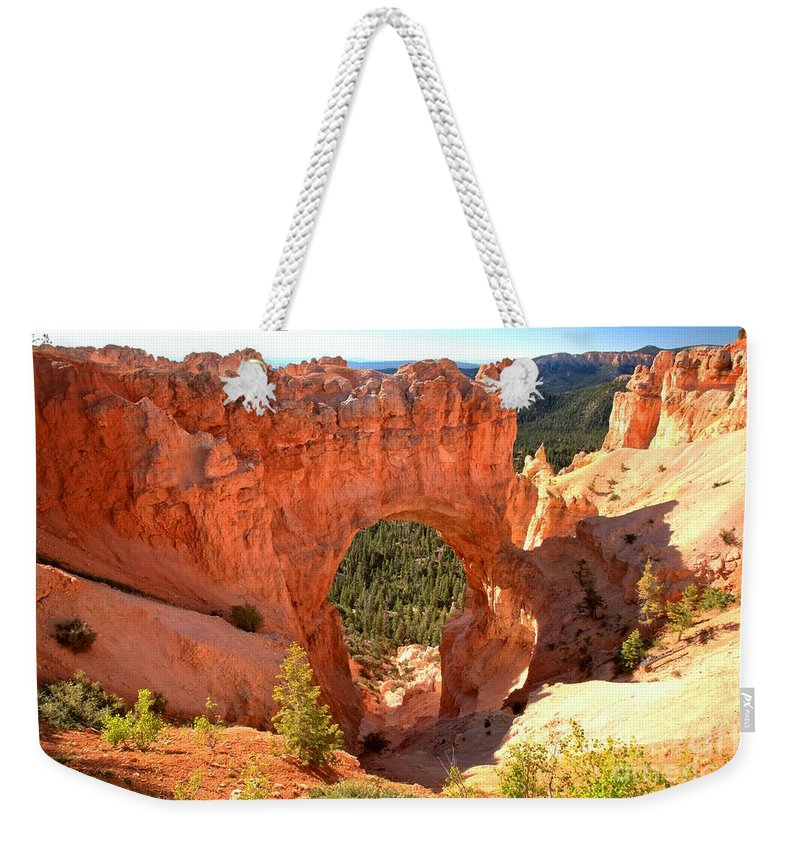 Bryce Canyon Weekender Tote Bag featuring the photograph The Arch At Bryce by Adam Jewell